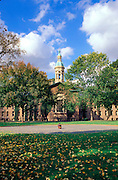 """Princeton University, Nassau Hall, New Jersey.<br /> Brought to Princeton while the Revolutionary War was still going on, the """"Big Cannon"""" is now buried behind Nassau Hall in the center of the quadrangle appropriately known as Cannon Green."""