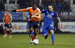 Jack Marriott of Peterborough United in action with Pelly Ruddock of Luton Town - Mandatory by-line: Joe Dent/JMP - 09/01/2018 - FOOTBALL - Kenilworth Road - Luton, England - Luton Town v Peterborough United - Checkatrade Trophy