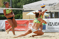 Monika Potokar and Erika Fabjan during Beach Volleyball Slovenian National Championship 2016, on July 23, 2016 in Kranj, Slovenia. Photo by Matic Klansek Velej / Sportida