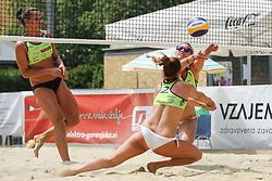 Monika Potokar and Erika Fabjan during Beach Volleyball Slovenian National Championship 2016, on July 23, 2016 in Kranj, Slovenia. Photo by Matic Klansek Velej / Sportida