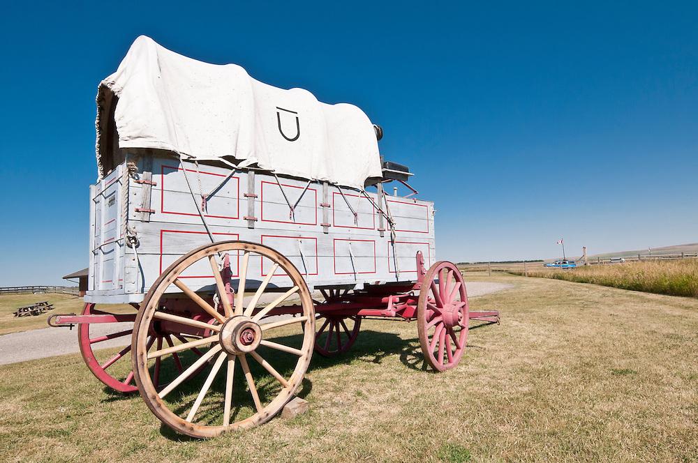 Covered wagon, Bar U Ranch, National Historic Site, Alberta, Canada