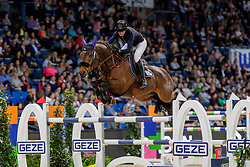 CONTER Zoe (BEL), Davidoff de Lassus<br /> Stuttgart - German Masters 2019<br /> Preis der Firma GEZE GmbH<br /> Int. Springprüfung mit Siegerrunde (1.50 m)<br /> CSI5*-W, Wertungsprüfung für LONGINES Ranking<br /> 16. November 2019<br /> © www.sportfotos-lafrentz.de/Stefan Lafrentz