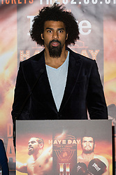 © Licensed to London News Pictures. 18/05/2016. British heavyweight boxer David Hayes takes part on a press conference before their fight at the O2 on Saturday 21st May 2016.<br /> London, UK. Photo credit: Ray Tang/LNP