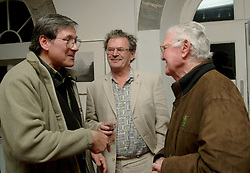 The Photographer Ron Rosenstock, the Poet Gabriel Rosenstock and Mr Michael Mulloy pictured at the opening of 'Hymn to the Earth' a photography exhibition by Ron Rosenstock.<br /><br />Picture Conor McKeown.