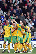 London - Tuesday, January 1st, 2008: Darel Russel of Norwich City celebrates his goal against Crystal Palace during the Coca Cola Championship match at Selhurst Park, London. (Pic by Mark Chapman/Focus Images)