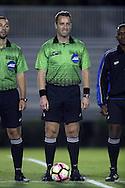 21 October 2016: Referee Nikola Aleksic. The Duke University Blue Devils hosted the University of Notre Dame Fighting Irish at Koskinen Stadium in Durham, North Carolina in a 2016 NCAA Division I Men's Soccer match. Duke won the game 2-1 in two overtimes.