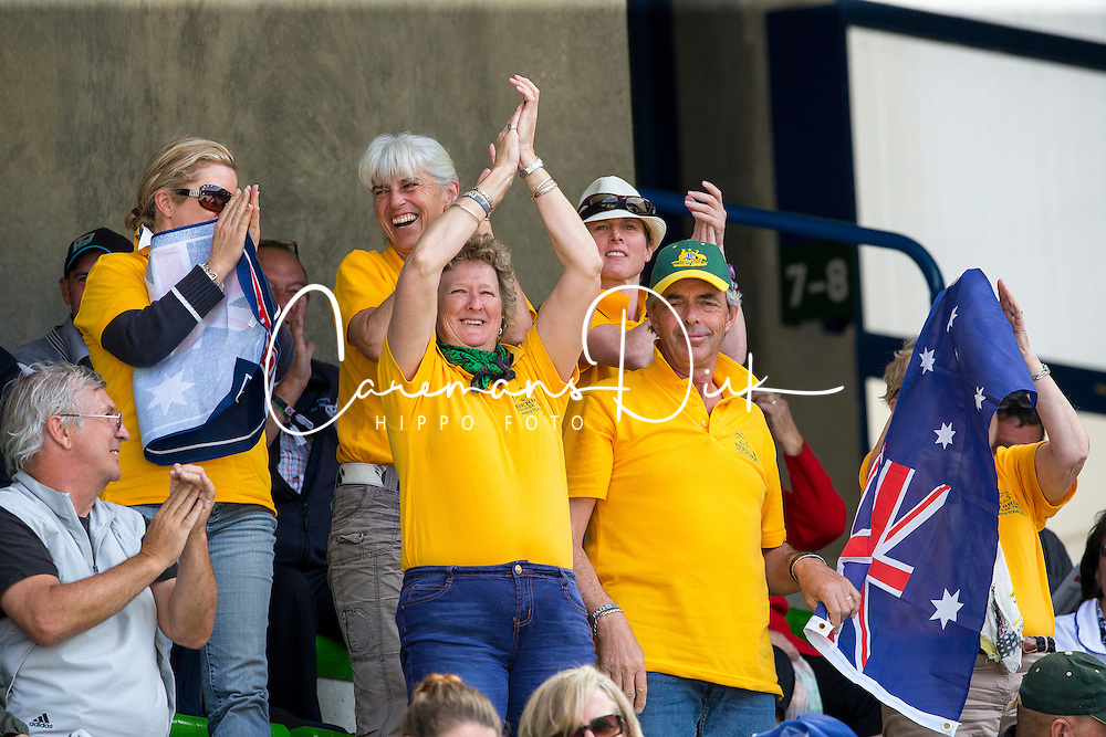 Supporter AUS - Team & Individual Competition Jumping Speed - Alltech FEI World Equestrian Games™ 2014 - Normandy, France.<br /> © Hippo Foto Team - Leanjo De Koster<br /> 02-09-14