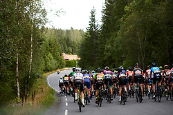 The peloton head into the woods during Ladies Tour of Norway 2019 - Stage 3, a 125 km road race from Moss to Halden, Norway on August 24, 2019. Photo by Sean Robinson/velofocus.com