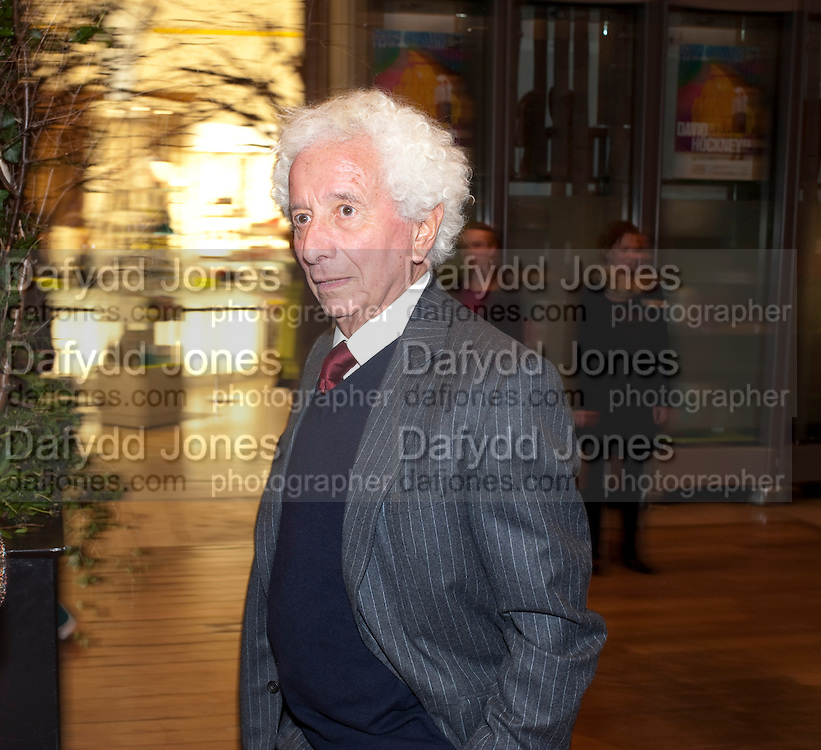 LORD GAVRON, Opening of David Hockney ' A Bigger Picture' Royal Academy. Piccadilly. London. 17 January 2012