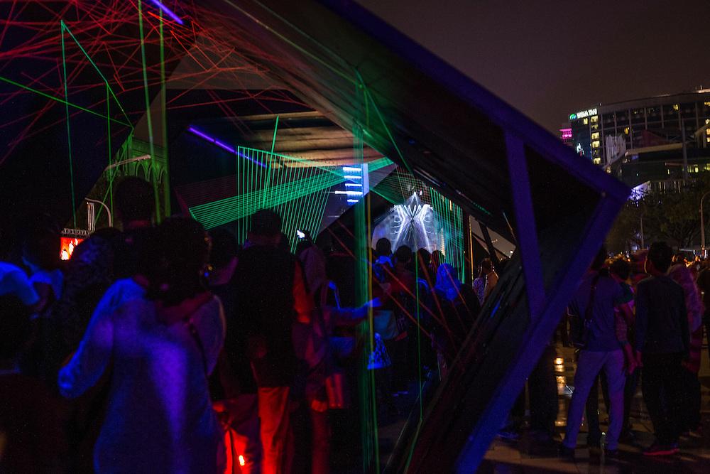 Scene during Putrajaya Lighting Festival in Putrajaya, Malaysia Dec 2014.