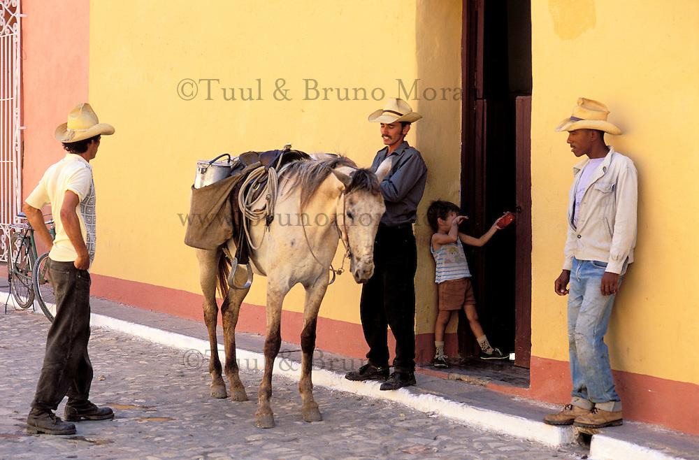 Cuba, Sancti Spiritus province, Trinidad (UNESO world heritage), Horse man // Cuba, Region of Sancti Spiritus, Trinidad, World heritage of UNESCO, Horseman
