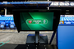 The referees VAR screen at Goodison Park ahead of the Carabao Cup fixture between Everton and Rotherham United - Mandatory by-line: Robbie Stephenson/JMP - 29/08/2018 - FOOTBALL - Goodison Park - Liverpool, England - Everton v Rotherham United - Carabao Cup
