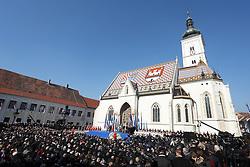 15.02.2015, Zagreb, CRO, Kolinda Gabar, Einweihungsfeier der neuen kroatischen Präsidentin Kolinda Grabar, im Bild Übersicht // during inauguration ceremony of new Croatian President Kolinda Grabar in Zagreb, Croatia on 2015/02/15. EXPA Pictures © 2015, PhotoCredit: EXPA/ Pixsell/ Igor Kralj<br /> <br /> *****ATTENTION - for AUT, SLO, SUI, SWE, ITA, FRA only*****