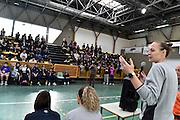Kathrin Ress<br /> Nazionale Femminile Senior in visita al Liceo Scientifico Sportivo E. Fermi di Lucca.<br /> FIP 2016<br /> Lucca, 18/11/2016<br /> Foto Ciamillo - Castoria