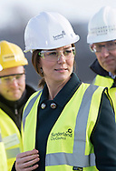 21.02.2018; Sunderland, UK: KATE MIDDLETON DONS HARD HAT <br />hi-viz jacket and safety glasses for visit to the Northern Spire, Sunderland.<br />The Duke &amp; Duchess of Cambridge met local children, before officially crossing the bridge and meeting the engineers and construction workers who have made the Northern Spire, an ambitious and striking new bridge over the River Wear a reality.<br />Mandatory Photo Credit: &copy;Francis Dias/NEWSPIX INTERNATIONAL<br /><br />IMMEDIATE CONFIRMATION OF USAGE REQUIRED:<br />Newspix International, 31 Chinnery Hill, Bishop's Stortford, ENGLAND CM23 3PS<br />Tel:+441279 324672  ; Fax: +441279656877<br />Mobile:  07775681153<br />e-mail: info@newspixinternational.co.uk<br />Usage Implies Acceptance of Our Terms &amp; Conditions<br />Please refer to usage terms. All Fees Payable To Newspix International