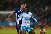 Newcastle United midfielder Georginio Wijnaldum (5)   and Leicester City midfielder Danny Drinkwater (4) during the Barclays Premier League match between Leicester City and Newcastle United at the King Power Stadium, Leicester, England on 14 March 2016. Photo by Simon Davies.