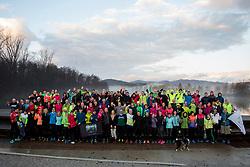1. skupinski tek pod okriljem Volkswagen Ljubljanskega maratona, on January 6, 2018 in Ljubljana, Slovenia. Photo by Urban Urbanc / Sportida