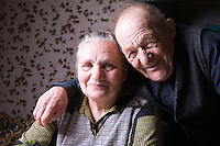 Russia portrait of senior couple