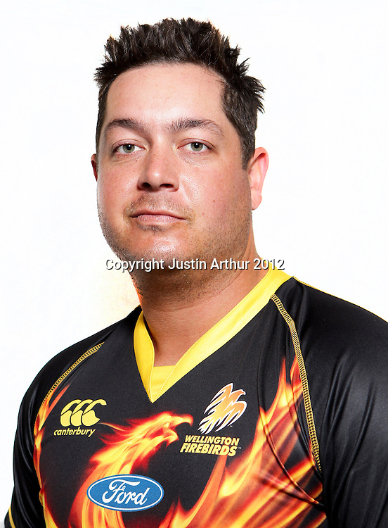 Jesse Ryder, Wellington Firebirds HRV domestic cricket headshots. Basin Reserve, Wellington, New Zealand on Friday 21 December 2012. Photo:Justin Arthur / photosport.co.nz