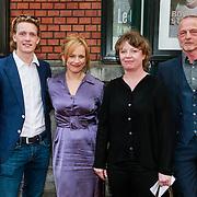 NLD/Amsterdam/20130424- Filmpremiere Boven is het Stil, Martijn Lakemeijer, Lies Visschedijk, Nanouk Leopold en Gerbrand Bakker