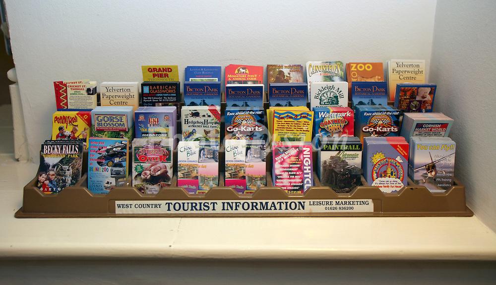 Tourist leaflets Devon UK
