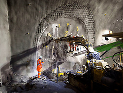 Construction of tunnels to the Western Ticket Hall, Farringdon. Client BFK