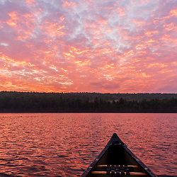 Dawn over Cross Lake in Square Lake Township, Maine.