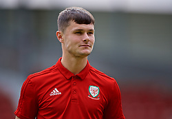 WREXHAM, WALES - Friday, September 6, 2019: Wales' Liam Cullen on the pitch before the UEFA Under-21 Championship Italy 2019 Qualifying Group 9 match between Wales and Belgium at the Racecourse Ground. (Pic by Laura Malkin/Propaganda)