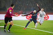 Kylian Mbappe (PSG) and Jonathan DELAPLACE (SM Caen) during the French Championship Ligue 1 football match between Paris Saint-Germain and SM Caen on December 20, 2017 at Parc des Princes stadium in Paris, France - Photo Stephane Allaman / ProSportsImages / DPPI