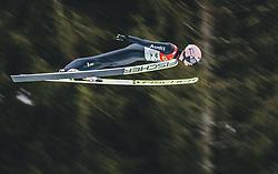 16.02.2020, Kulm, Bad Mitterndorf, AUT, FIS Ski Flug Weltcup, Kulm, Herren, 1. Wertungsdurchgang, im Bild Karl Geiger (GER) // Karl Geiger of Germany during his 1st Competition Jump for the men's FIS Ski Flying World Cup at the Kulm in Bad Mitterndorf, Austria on 2020/02/16. EXPA Pictures © 2020, PhotoCredit: EXPA/ Dominik Angerer