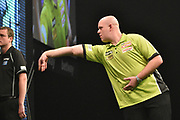 Michael van Gerwen during the Betway Premier League Darts at the Manchester Arena, Manchester, United Kingdom on 23 March 2017. Photo by Mark Pollitt.