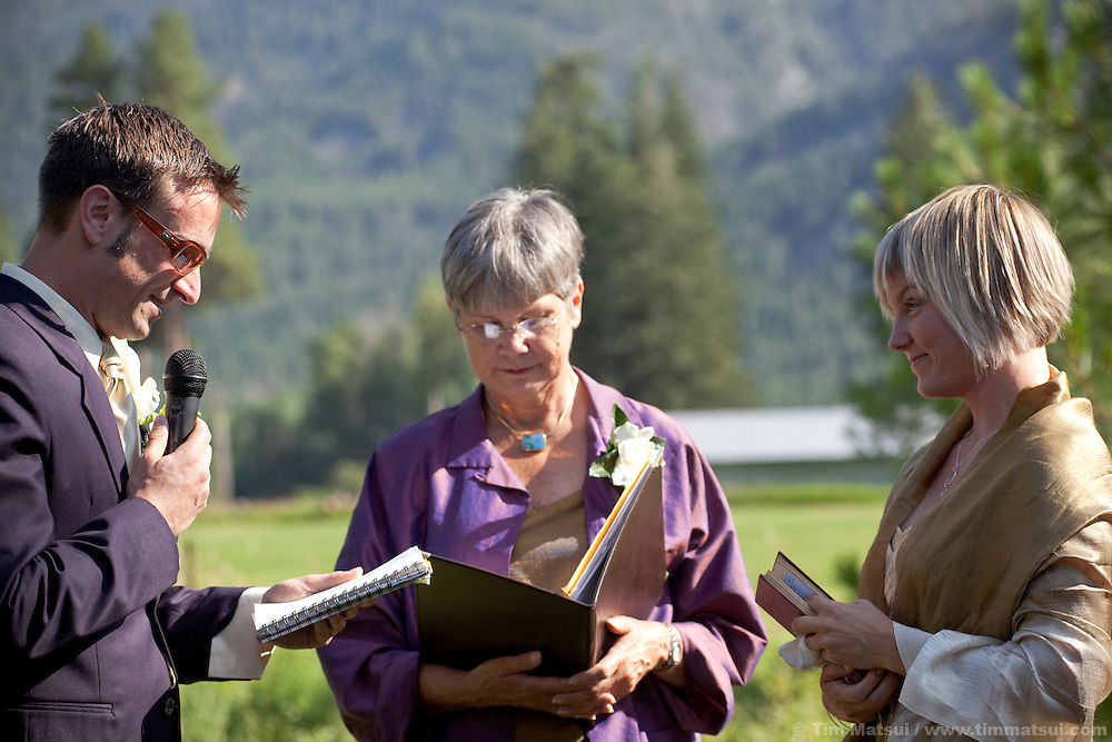 Candids from the wedding of Marshall and Megan in Mazama, Washington.