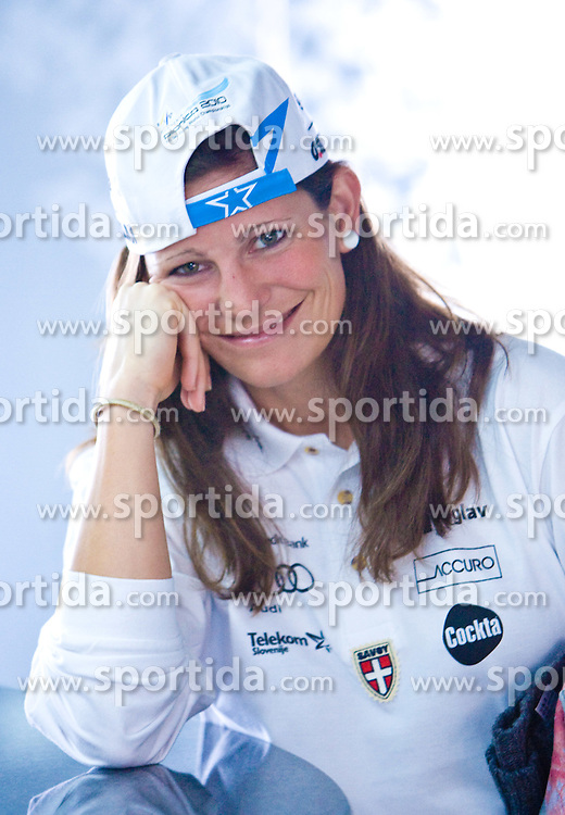 Slovenian cross country skier Katja Visnar at the 4th OKS press club with Slovenian nordic Olympic Candidates for Vancouver 2010,  on October 08, 2009, in Telekom Slovenija, Ljubljana, Slovenia.   (Photo by Vid Ponikvar / Sportida)