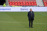Crystal Palace Manager Roy Hodgson on the pitch for inspection prior to kick off during the The FA Cup 5th round match between Doncaster Rovers and Crystal Palace at the Keepmoat Stadium, Doncaster, England on 17 February 2019.