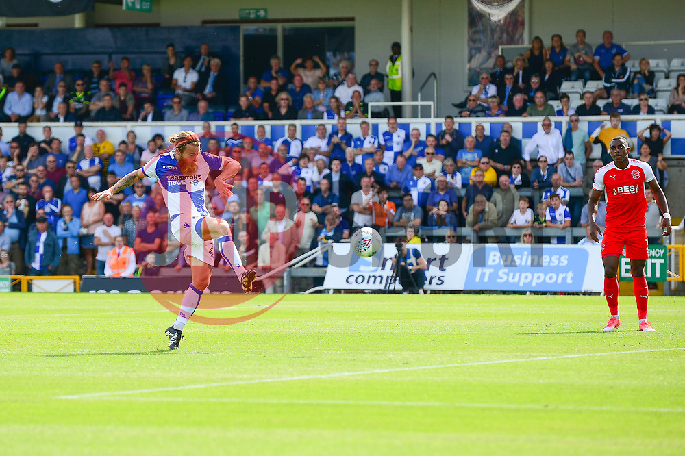 Stuart Sinclair of Bristol Rovers scores to make it 1-0 - Mandatory by-line: Dougie Allward/JMP - 26/08/2017 - FOOTBALL - Memorial Stadium - Bristol, England - Bristol Rovers v Fleetwood Town - Sky Bet League One