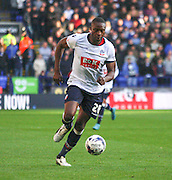 Shola Ameobi attacks during the Sky Bet Championship match between Bolton Wanderers and Leeds United at the Macron Stadium, Bolton, England on 24 October 2015. Photo by Pete Burns.