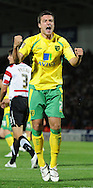 Doncaster - Tuesday September 14th, 2010:  Norwich City's Andrew Crofts celebrates his sides only goal during the NPower Championship match at Keepmoat Stadium, Doncaster. (Pic by Dave Howarth/Focus Images)