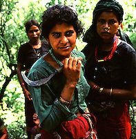 Peasant girls in a remote part of western Nepal controlled by Maoist rebels. (Photo/Scott Dalton)
