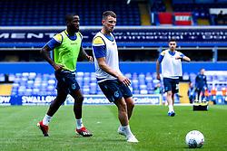 Ollie Clarke of Bristol Rovers and Abu Ogogo of Bristol Rovers warm up - Mandatory by-line: Robbie Stephenson/JMP - 17/08/2019 - FOOTBALL - St Andrews Stadium - Birmingham, England - Coventry City v Bristol Rovers - Sky Bet League One