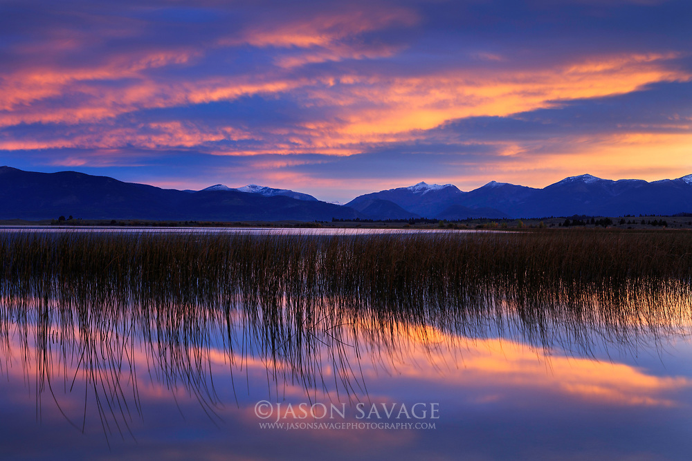 Sunrise over Browns Lake near Ovando.