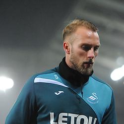 Mike Van Der Hoorn of Swansea City warms up prior to Swansea City vs Arsenal, Premier League, 30.01.18 (c) Harriet Lander | SportPix.org.uk