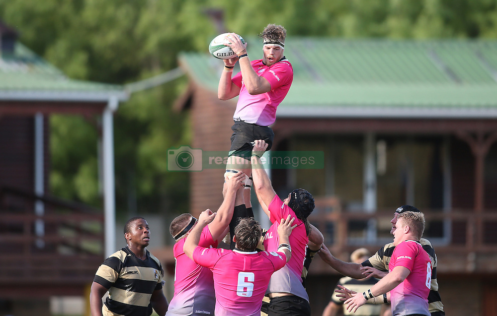 Jannie Stander of the Pumas takes the line out ball during the Currie Cup premier division match between the Boland Cavaliers and The Pumas held at Boland Stadium, Wellington, South Africa on the 2nd September 2016<br /> <br /> Photo by:   Shaun Roy/ Real Time Images