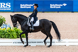 Davydova Evgenija, RUS, Awakening<br /> World Equestrian Games - Tryon 2018<br /> © Hippo Foto - Dirk Caremans<br /> 12/09/18