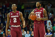DALLAS, TX - FEBRUARY 19: Jaylen Bond #15 and Will Cummings #2 of the Temple Owls react after a foul against the SMU Mustangs on February 19, 2015 at Moody Coliseum in Dallas, Texas.  (Photo by Cooper Neill/Getty Images) *** Local Caption *** Will Cummings; Jaylen Bond