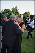 SIR PHILIP GREEN; CARA DELEVIGNE, 2014 Serpentine's summer party sponsored by Brioni.with a pavilion designed this year by Chilean architect Smiljan Radic  Kensington Gdns. London. 1July 2014