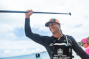 Fernando Stalla, still smiling after completing the SUP distance race on Day 4.