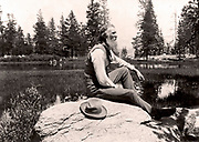 John Muir (1838-1914) Scottish-born American naturalist, engineer, writer and pioneer of conservation. Campaigned for preservation of US wilderness including Yosemite Valley and Sequoia National Park. Founder of The Sierra  Club. Photograph.