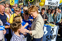 Nicola Sturgeon, Scotland's First Minister joins SNP candidate Mairi McCallan on the campaign trail in Biggar, South Lanarkshire.<br /> <br /> (c) Andrew Wilson | Edinburgh Elite media