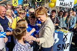Nicola Sturgeon, Scotland's First Minister joins SNP candidate Mairi McCallan on the campaign trail in Biggar, South Lanarkshire.<br /> <br /> (c) Andrew Wilson | Edinburgh Elite media