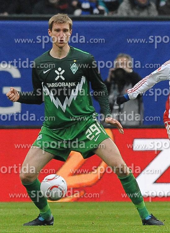 19.02.2011, Imtech Arena, Hamburg, GER, 1.FBL, Hamburger SV vs Werder Bremen, im Bild Per Mertesacker (Bremen #29)   EXPA Pictures © 2011, PhotoCredit: EXPA/ nph/  Frisch       ****** out of GER / SWE / CRO  / BEL ******